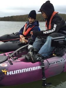 coffret cadeau pêche en kayak à pédales 2